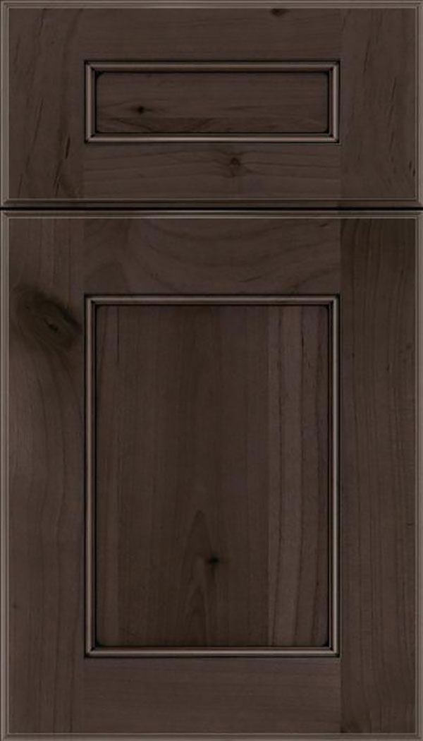Tamarind 5pc Alder shaker cabinet door in Thunder with Black glaze