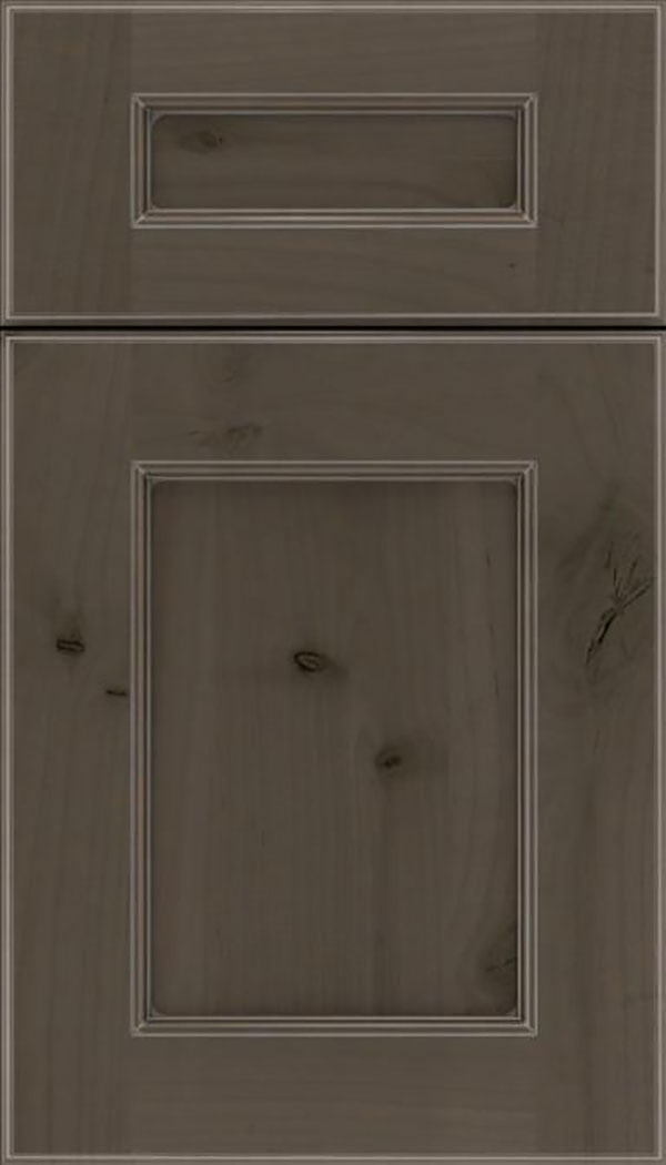 Tamarind 5pc Alder shaker cabinet door in Thunder with Pewter glaze