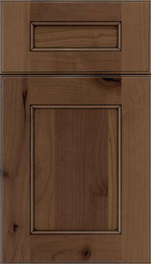 Tamarind 5pc Alder shaker cabinet door in Toffee with Black glaze