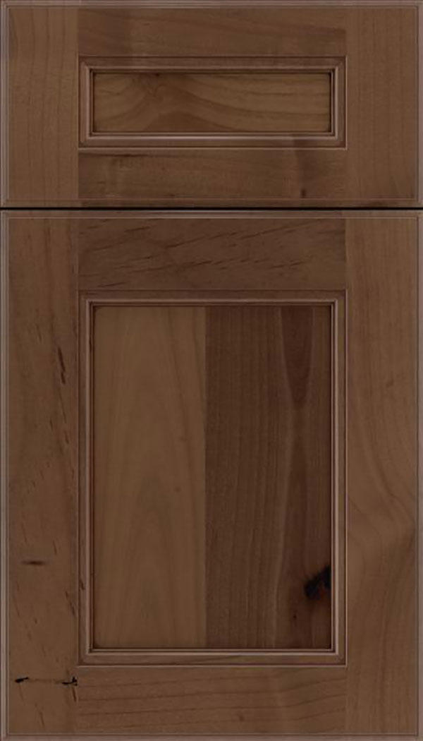 Tamarind 5pc Alder shaker cabinet door in Toffee with Mocha glaze
