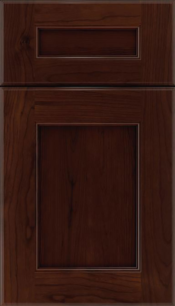 Tamarind 5pc Cherry shaker cabinet door in Cappuccino
