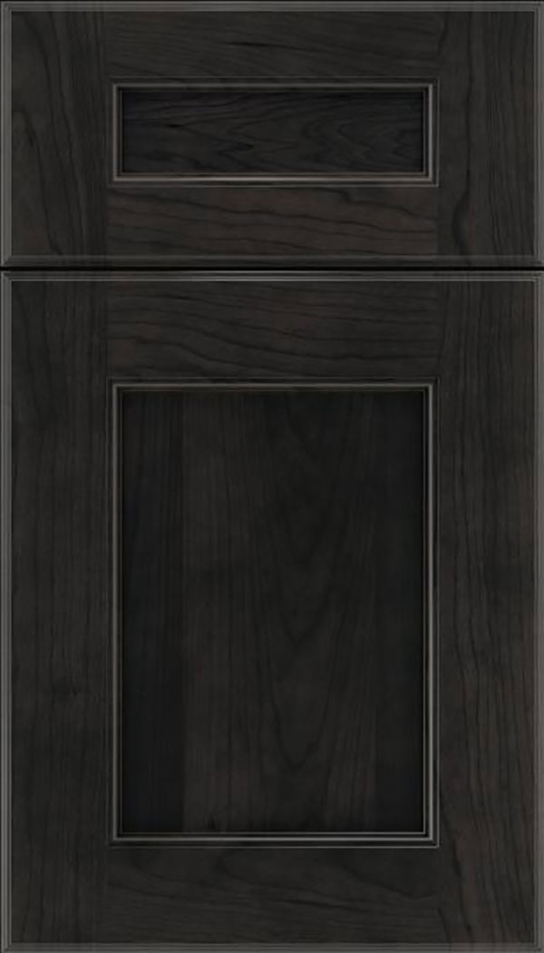 Tamarind 5pc Cherry shaker cabinet door in Charcoal