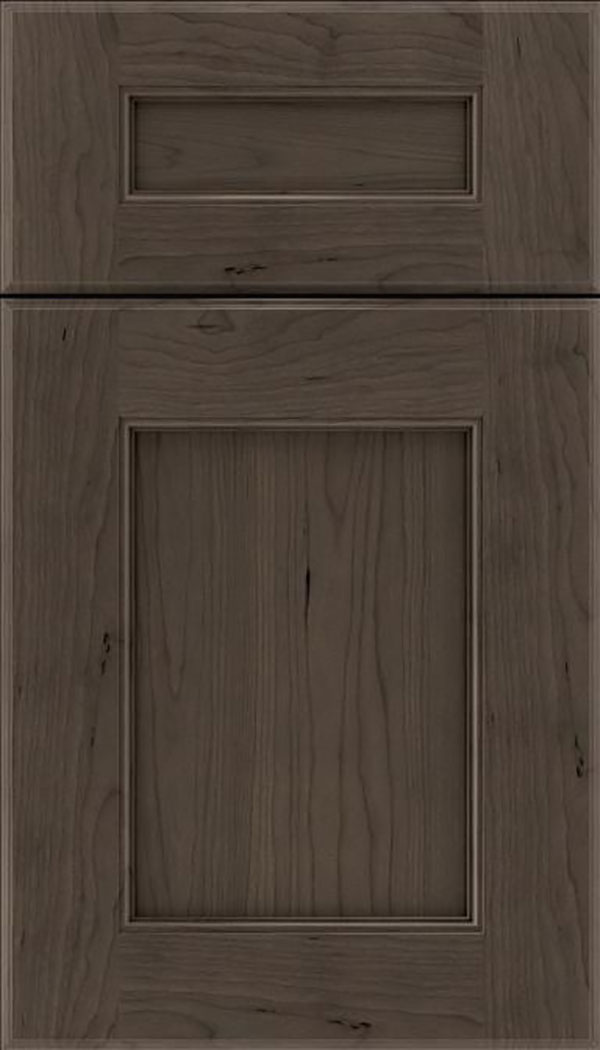 Tamarind 5pc Cherry shaker cabinet door in Thunder