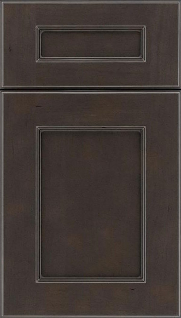 Tamarind 5pc Cherry shaker cabinet door in Thunder with Pewter glaze