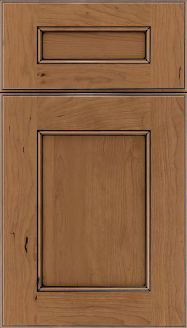 Tamarind 5pc Cherry shaker cabinet door in Tuscan with Black glaze