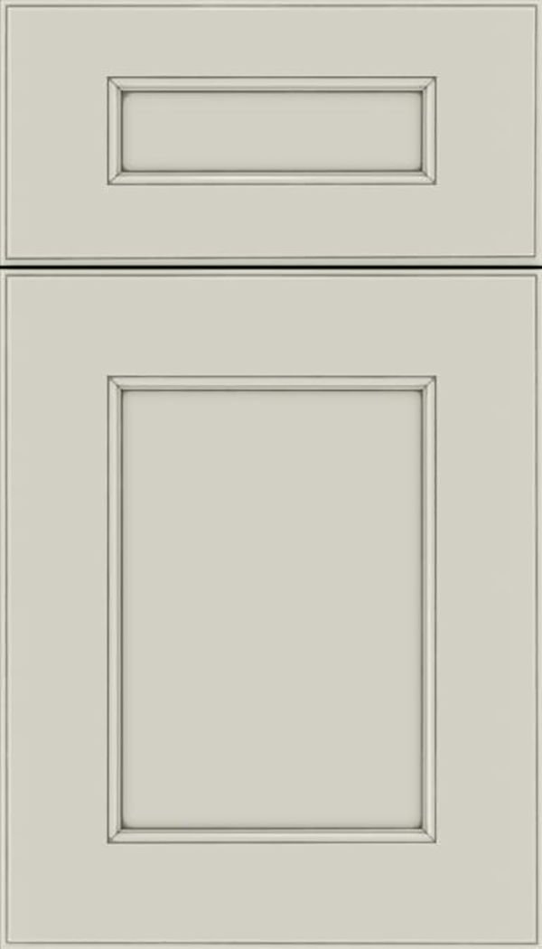 Tamarind 5pc Maple shaker cabinet door in Cirrus with Pewter glaze