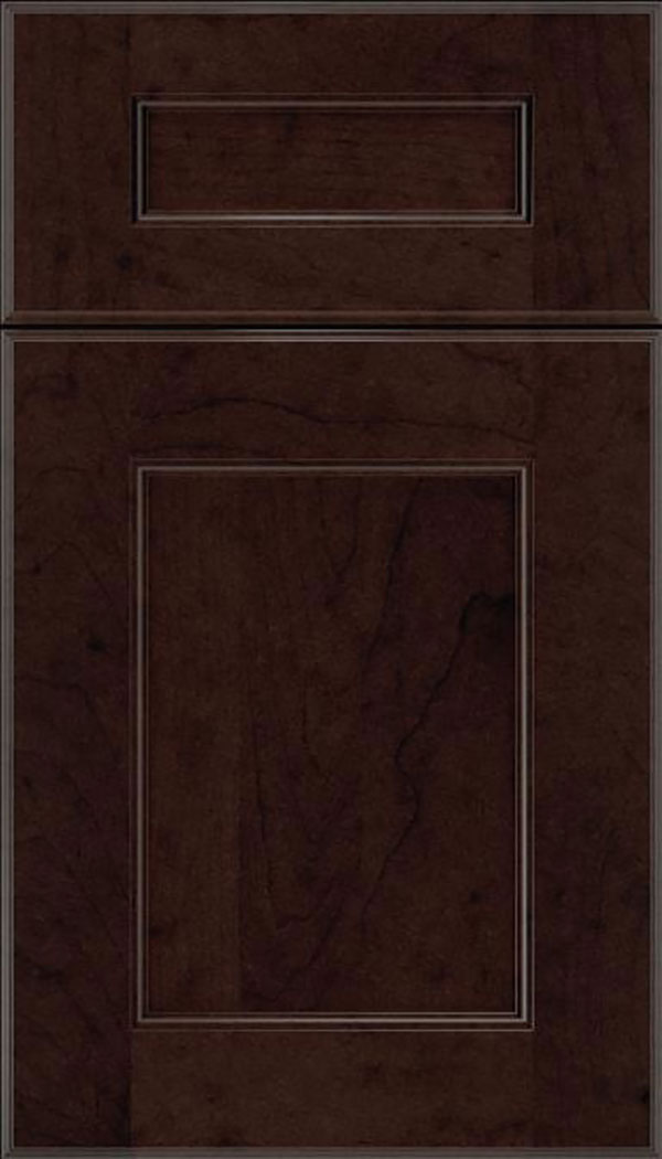 Tamarind 5pc Maple shaker cabinet door in Espresso