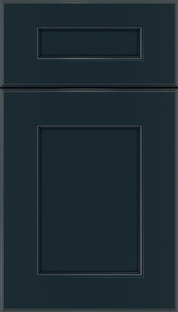 Tamarind 5pc Maple shaker cabinet door in Gunmetal Blue