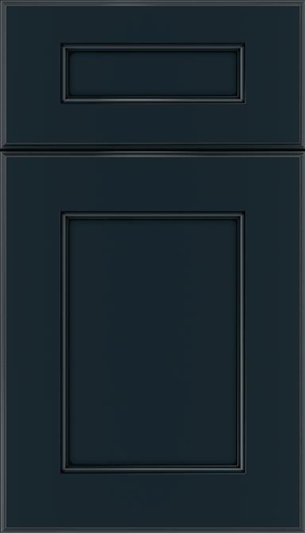 Tamarind 5pc Maple shaker cabinet door in Gunmetal Blue with Black glaze