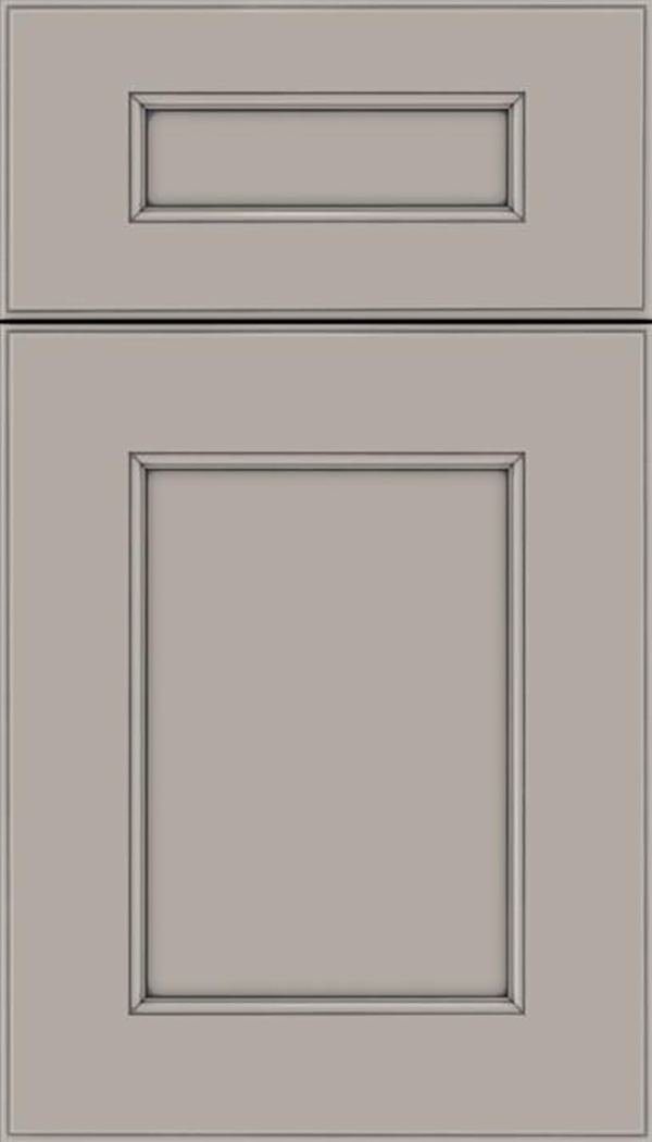 Tamarind 5pc Maple shaker cabinet door in Nimbus with Pewter glaze