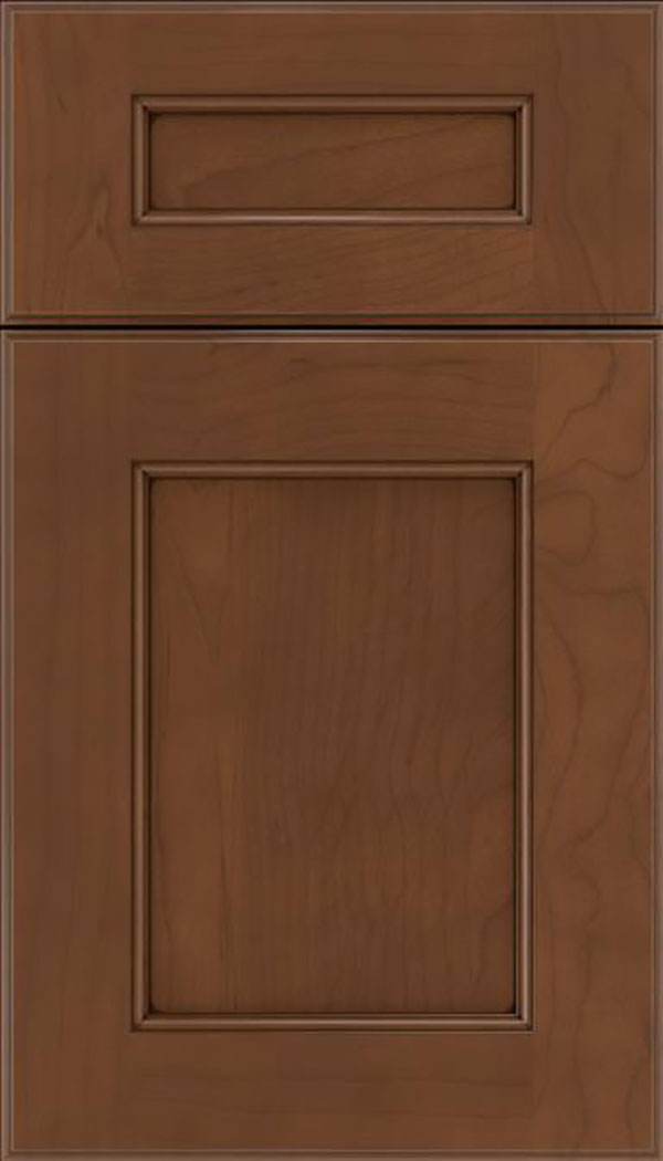 Tamarind 5pc Maple shaker cabinet door in Sienna with Mocha glaze