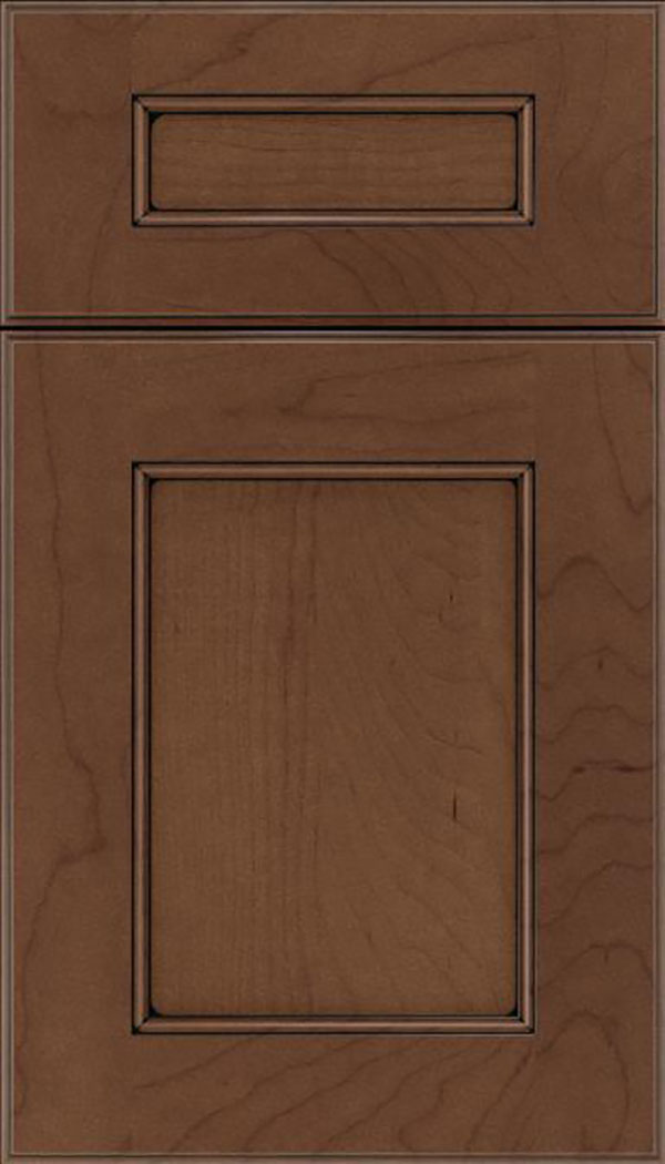 Tamarind 5pc Maple shaker cabinet door in Toffee with Black glaze