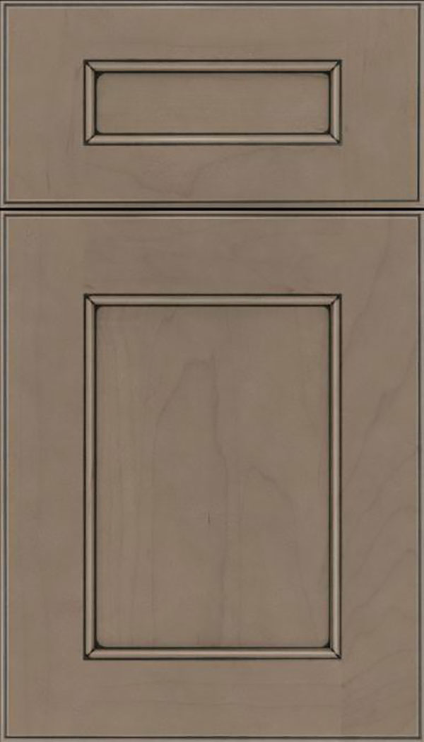 Tamarind 5pc Maple shaker cabinet door in Winter with Black glaze