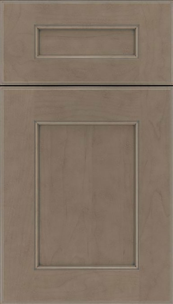 Tamarind 5pc Maple shaker cabinet door in Winter with Pewter glaze