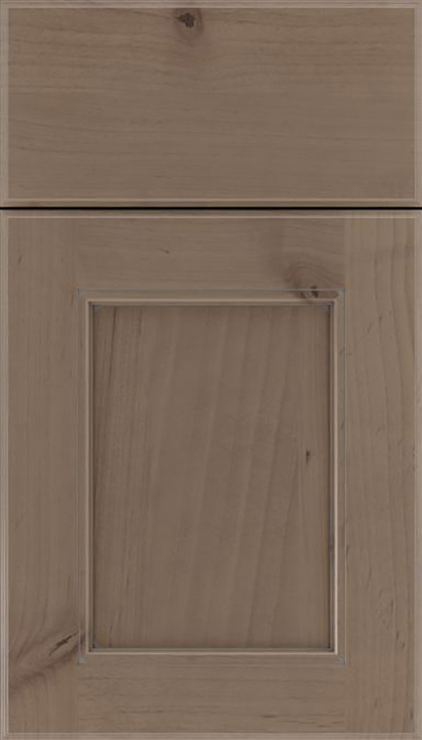 Tamarind Alder shaker cabinet door in Winter with Pewter glaze