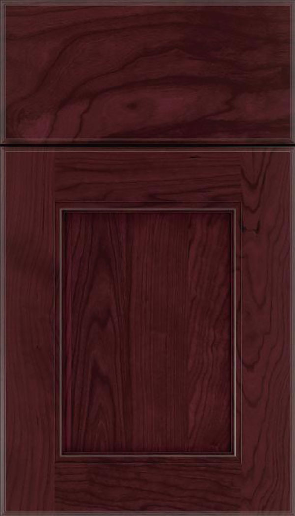 Tamarind Cherry shaker cabinet door in Bordeaux