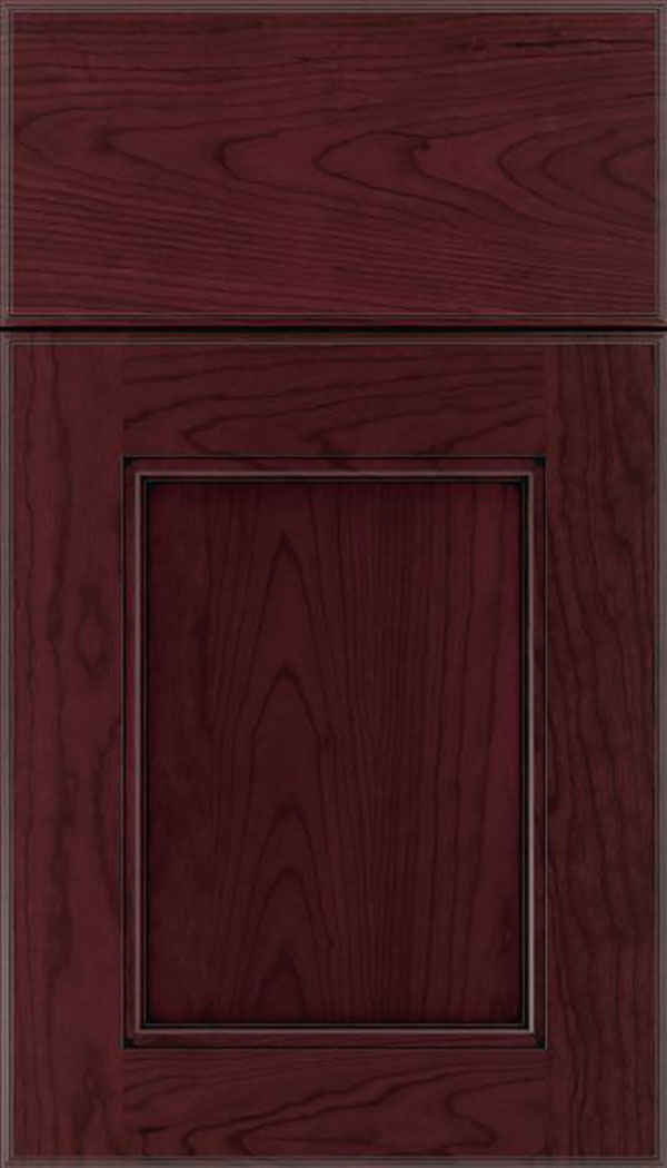 Tamarind Cherry shaker cabinet door in Bordeaux with Black glaze