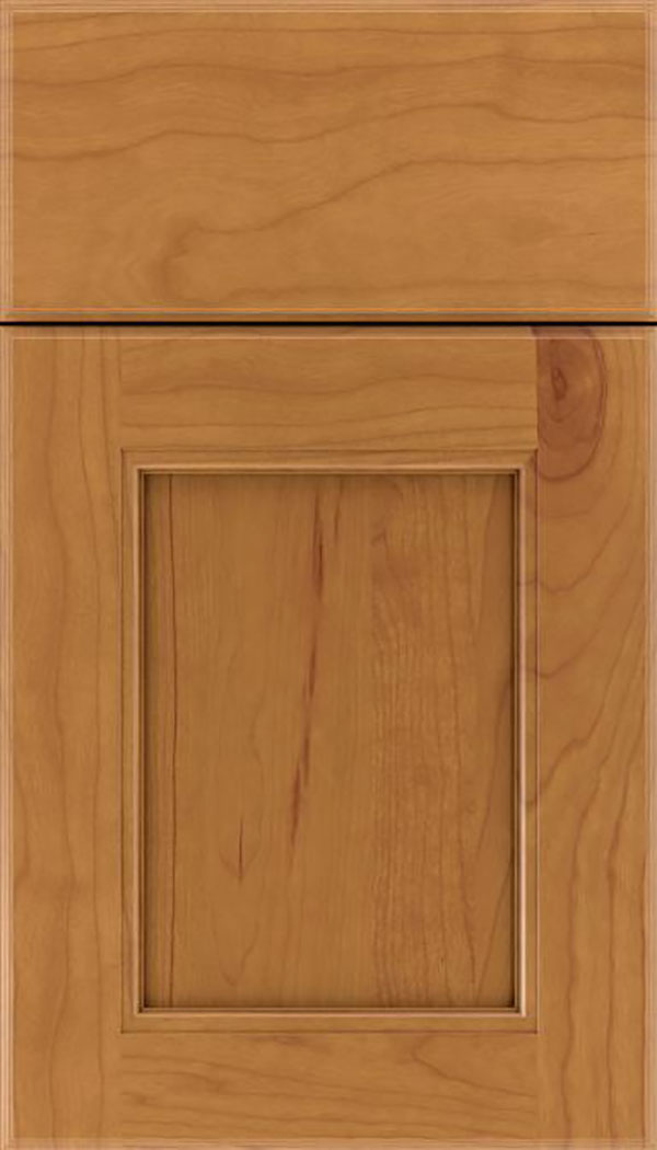 Tamarind Cherry shaker cabinet door in Ginger