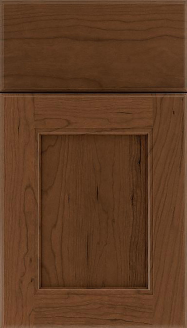 Tamarind Cherry shaker cabinet door in Sienna