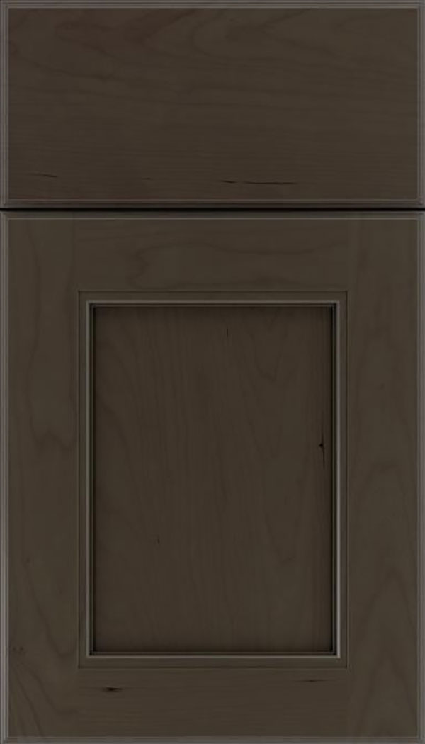Tamarind Cherry shaker cabinet door in Thunder