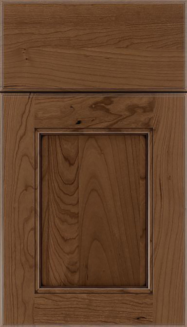 Tamarind Cherry shaker cabinet door in Toffee with Mocha glaze
