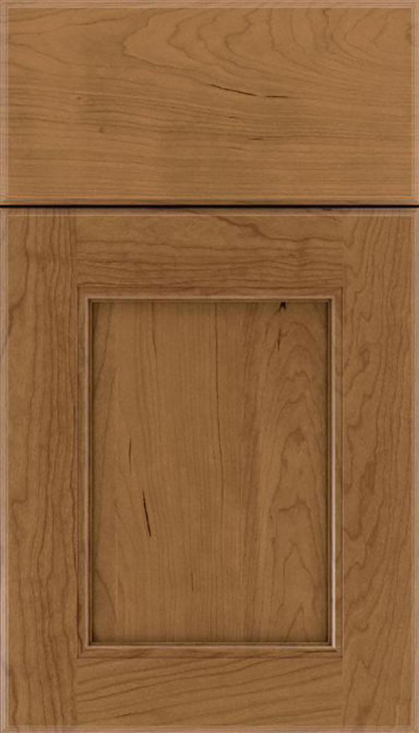 Tamarind Cherry shaker cabinet door in Tuscan