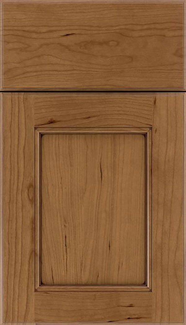 Tamarind Cherry shaker cabinet door in Tuscan with Mocha glaze
