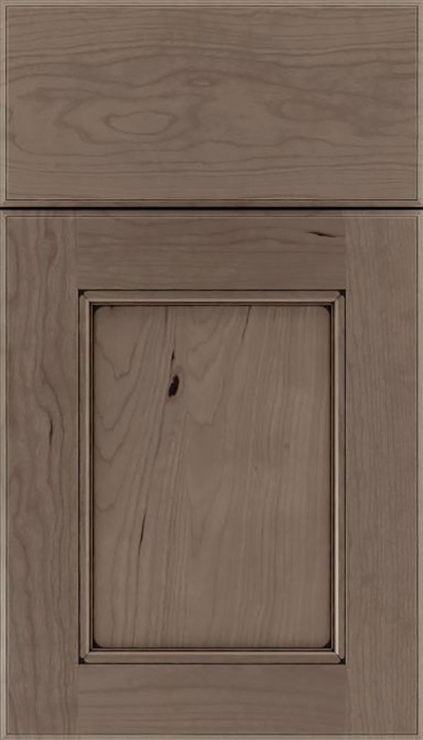 Tamarind Cherry shaker cabinet door in Winter with Black glaze