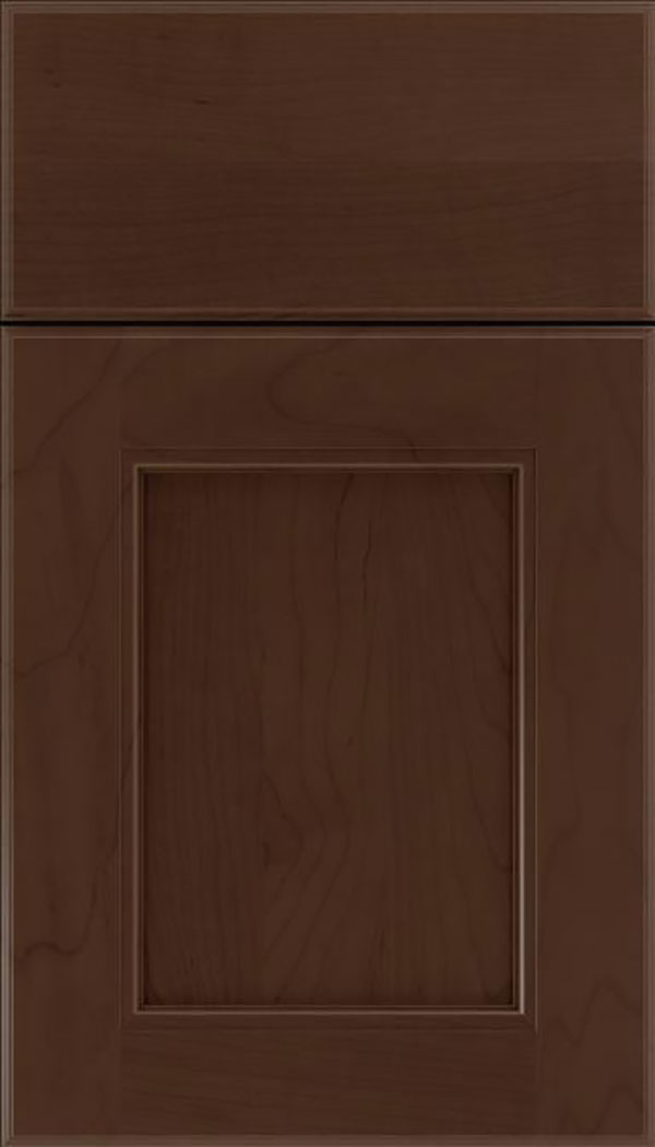 Tamarind Maple shaker cabinet door in Cappuccino