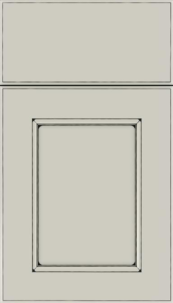 Tamarind Maple shaker cabinet door in Cirrus with Black glaze