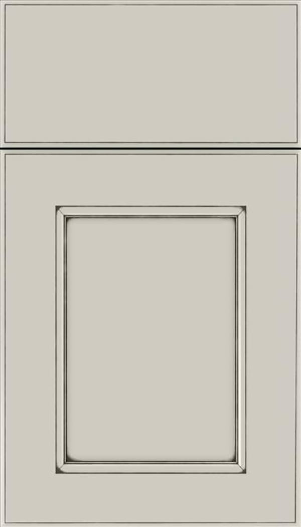 Tamarind Maple shaker cabinet door in Cirrus with Smoke glaze