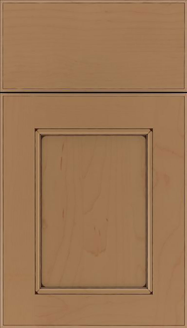 Tamarind Maple shaker cabinet door in Tuscan with Mocha glaze
