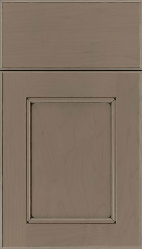Tamarind Maple shaker cabinet door in Winter with Black glaze
