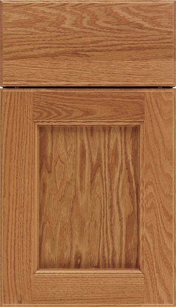 Tamarind Oak shaker cabinet door in Spice