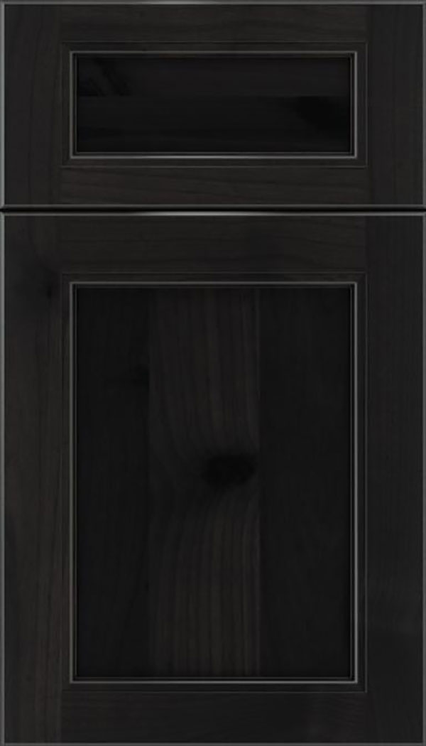 Templeton 5pc Alder recessed panel cabinet door in Charcoal