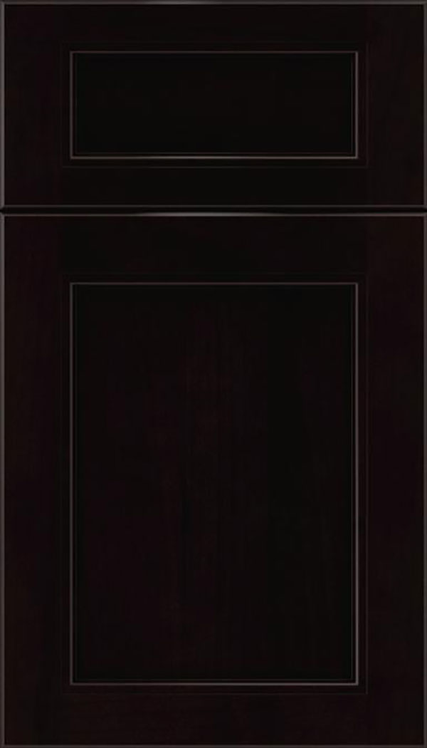 Templeton 5pc Alder recessed panel cabinet door in Espresso