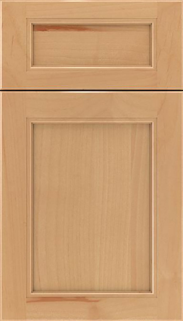 Templeton 5pc Alder recessed panel cabinet door in Natural