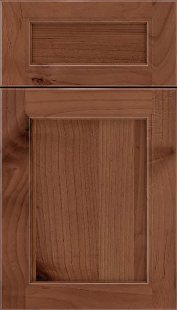 Templeton 5pc Alder recessed panel cabinet door in Nutmeg