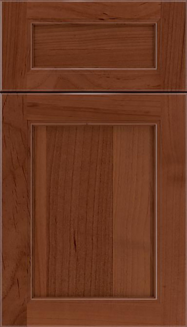 Templeton 5pc Alder recessed panel cabinet door in Russet