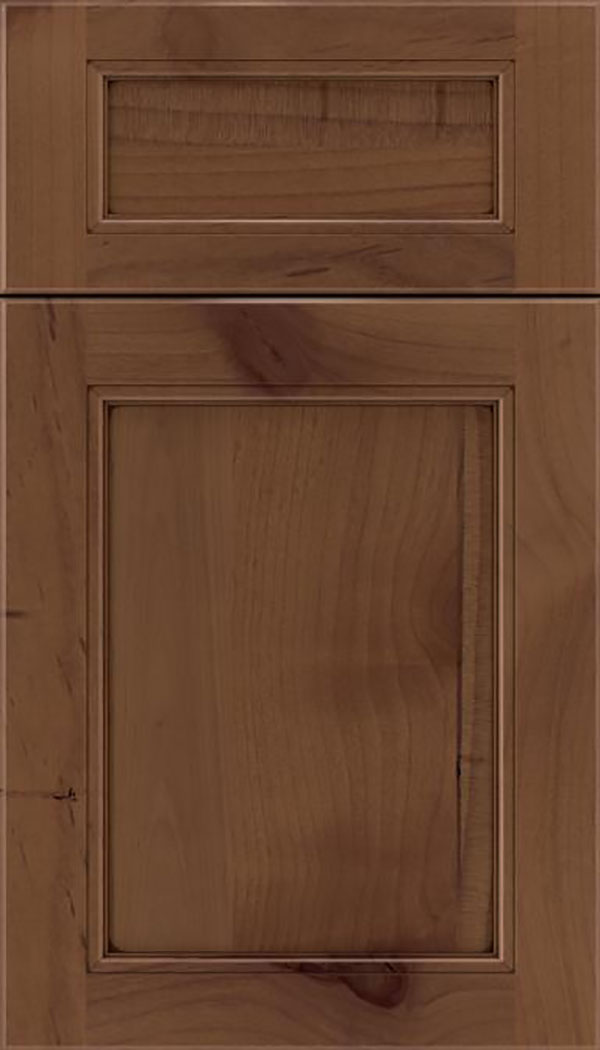 Templeton 5pc Alder recessed panel cabinet door in Sienna with Mocha glaze