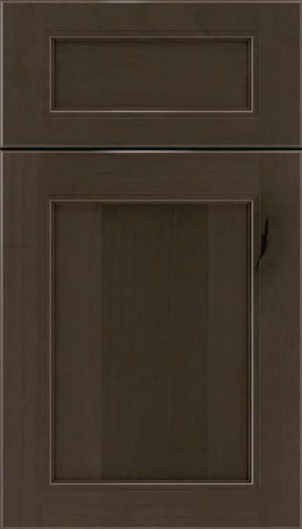 Templeton 5pc Alder recessed panel cabinet door in Thunder