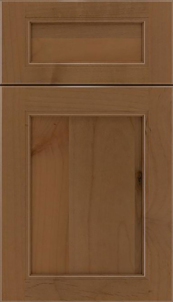 Templeton 5pc Alder recessed panel cabinet door in Tuscan
