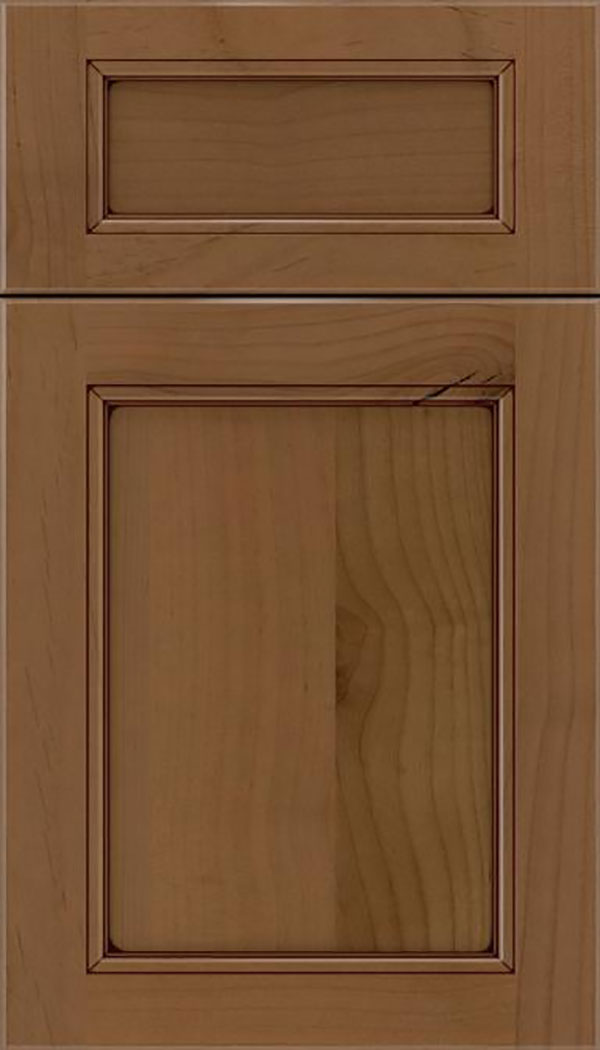 Templeton 5pc Alder recessed panel cabinet door in Tuscan with Mocha glaze