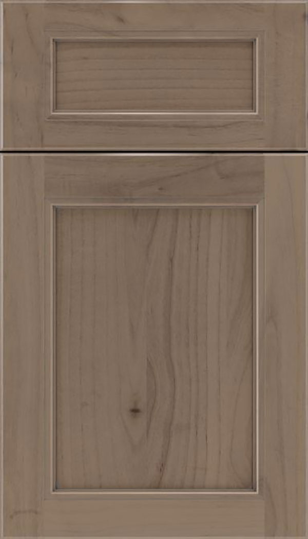 Templeton 5pc Alder recessed panel cabinet door in Winter with Pewter glaze