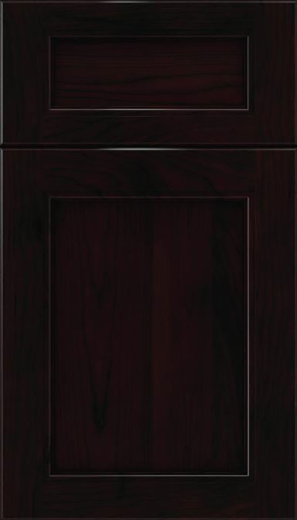 Templeton 5pc Cherry recessed panel cabinet door in Espresso