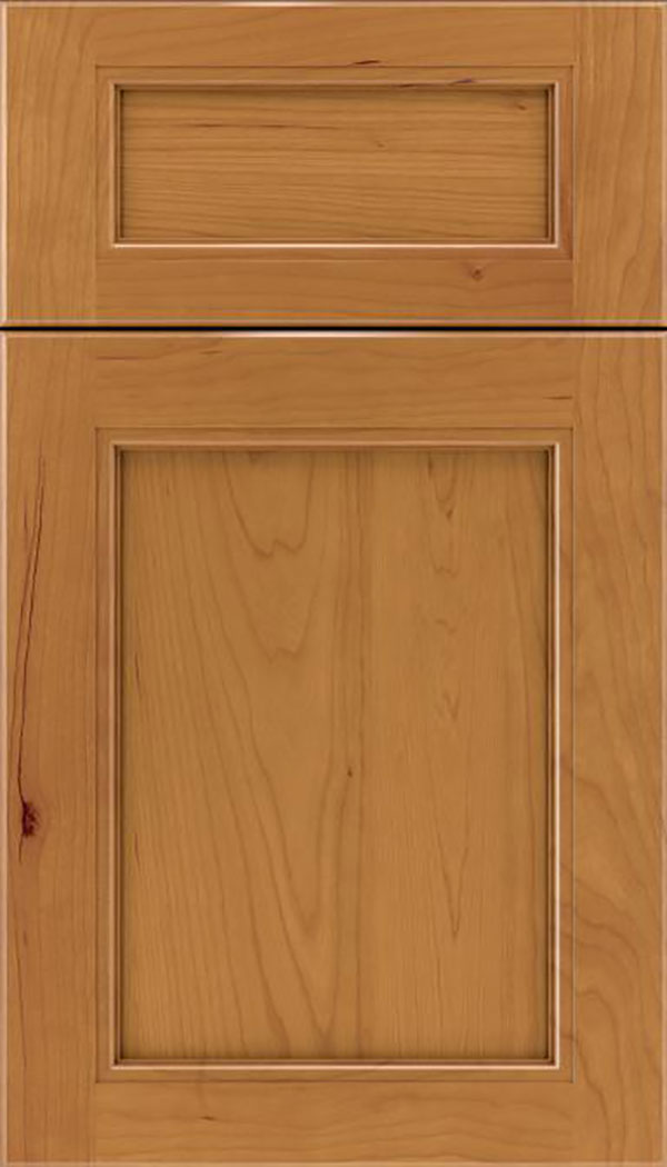 Templeton 5pc Cherry recessed panel cabinet door in Ginger
