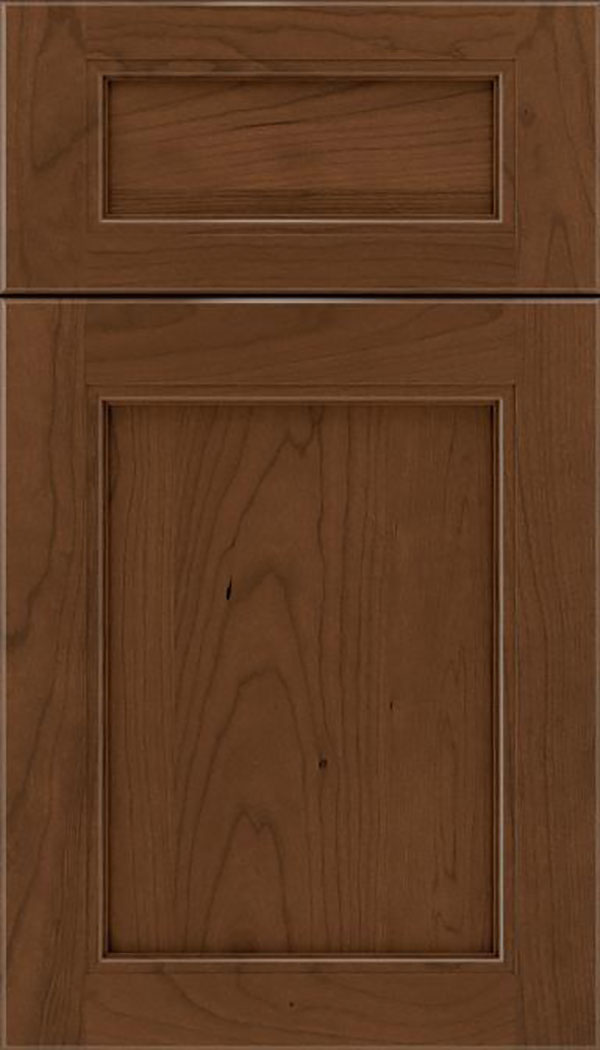 Templeton 5pc Cherry recessed panel cabinet door in Sienna