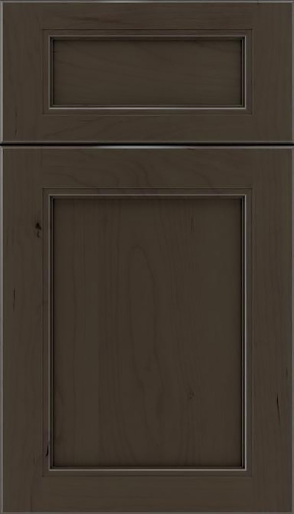 Templeton 5pc Cherry recessed panel cabinet door in Thunder