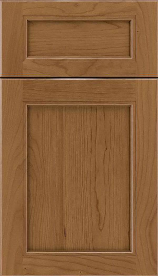 Templeton 5pc Cherry recessed panel cabinet door in Tuscan