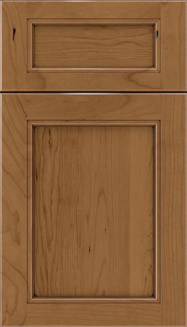 Templeton 5pc Cherry recessed panel cabinet door in Tuscan with Mocha glaze